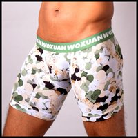 eb3e9c0523 Man Big Underwear Male Sexy Floral Long Boxers Shorts Lingerie Gay Seamless Pouch  Trunks Underpants
