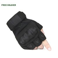 FREE SOLDIER outdoor sports tactical military men's half finger full gloves for hiking riding climbing training cycling gloves