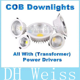 7w 9w 12w 15w 20w 30w dimmable cob led downlights for kitchen bathroom ip44 led down light ac 85 265v with power drivers bathroom down lighting