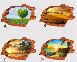 Wholesale 3D Wall Stickers Fake window shape Seven kinds of style For a variety of wall Decorate the room Good adhesion PVC material