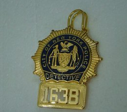 Wholesale The United States NYPD New York metal badge badge No American copper Badge