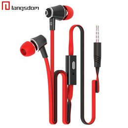 Wholesale Original Brand Earphones Headphones Best Quality With MIC MM Jack Stereo Bass For iphone Samsung Mobile Phone MP3 MP4 Laptop