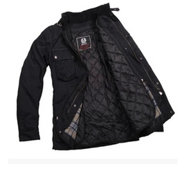 Descuento chaquetas de los hombres de cera Fall-2015 chaqueta encerada leyenda de la moda hombres de la chaqueta impermeable Trialmaster Soy leyenda roadmaster Nueva chaquetas Tourist Trophy encerado