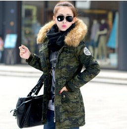 Wholesale-new 2015 women winter coat wadded jacket medium-long plus size 4XL Parka fur collar thickening hood abrigos female snow wear