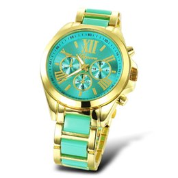 Wholesale 2016 NEW WOMEN Quartz Full Steel Watch Women Luxury Mechanical Automatic Watches Casual Dress Ladies Wrist Watch Golden Dial Alloy Watch