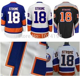 HOT Sale New York Islanders Hockey Jersey 18 Ryan Strome Jersey Royal Blue Road White 3rd Black Wholesale Strome Stitched Jersey