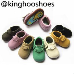 2017 rubber sole genuine leather baby moccasin
