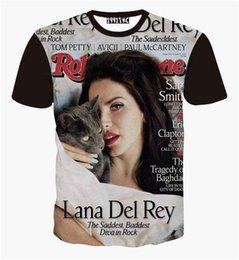 Wholesale New fashion women s sexy Lana Del Rey t shirt print d t shirts cute cat t shirt top Harajuku tee shirts