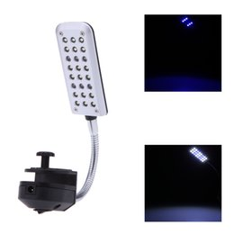 Wholesale Pet Product Fish Tank Water Plant LEDs Clip Light Lighting Lamp Working Modes White Blue Flexible Aquarium Accessories H15119
