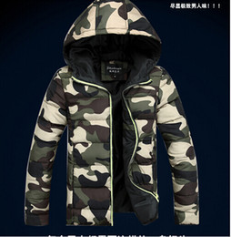 Wholesale 2014 High quality Mens winter Jackets Men Casual hooded camouflage Down cotton Coat Big Size S XL outdoors parka
