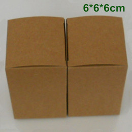 6*6*6cm Kraft Paper Package Box Gift Packaging Box for Jewelry Ornaments Perfume Essential Oil Cosmetic Bottle Wedding Candy Tea Packaging