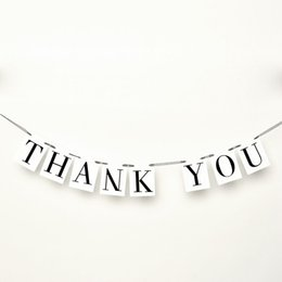 THANK YOU Letter Wedding Card Banner Bunting Sign Married Photo Prop Wedding Party Decoration Vintage