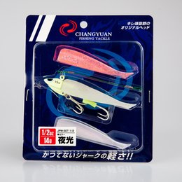 Wholesale Soft Ribbonfish Fake Baits Lead head Fishing lures inch with Hooks Salt or Fresh water fishing tackle customized