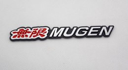 Wholesale 3D Aluminum Alloy Car Badge Logo emblema Nameplate Auto Rear Trunk Sticker Emblem Decal Fit For Mugen Power All Years Supplier