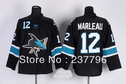 2013 Hot Sale Fashion Patrick Marleau Black Jersey #12 Ice Hockey San Jose Sharks Jerseys Alternate All Stitched Good Quality