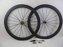 carbon road bike racing wheels clear coat rim 3K depth 50mm clincher tubular bicycle wheelset powerway R36 hubs basalt brake surface 700c