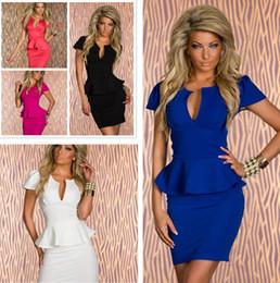 NEW 2015 Hot Sale ML XL XXL Lotus leaf sexy V-neck waist dress clubwear dresses sexy nightclub dress Party Evenning Dresses