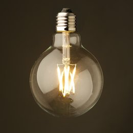 Wholesale Dimmable W Vintage LED Filament Light Bulb Cool Warm White Edison G125 Clear Style V Retro Decorative Lamp UL Certification