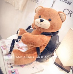 Wholesale hot sale Female package new winter the bear doll backpack street fashion bags leisure bag