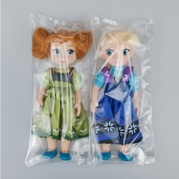 Wholesale 2PCS Hot Sell Frozen Princess inch vinyl Frozen Aisha Princess Anne doll doll doll salon PP bags