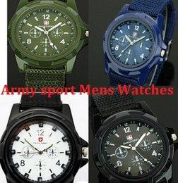 2017 reloj del ejército suizo deporte militar Gemius EJÉRCITO relojes de manera Reloj de los deportes de moda para hombre relojes de pulsera relojes de estilo militar SWISS ARMY lujo del análogo de cuarzo reloj del ejército suizo deporte militar Rebaja