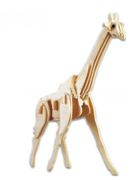 Wholesale-Educational Toys Wooden Giraffe Model 3D Puzzle DIY
