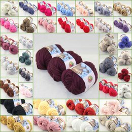 Wholesale Sale of BallsX50g Thick Worsted Cotton Knitting Yarn Hand coding line