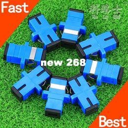 Wholesale 200pcs New SC fiber optic adapter SC flange coupler SC UPC adaptor fiber coupler for digital communications