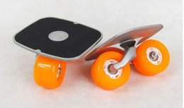 Wholesale door to door drift skates aluminium deck board same size as freeline roller skates rollerblade