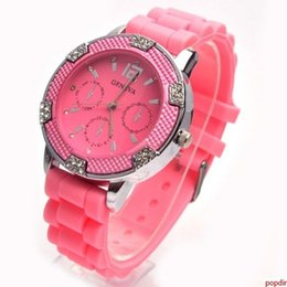 New Arrival Quartz Watch Wrist Watch Plastic Brand Classic Crystal Jelly Silicone Geneva Three Dial Watch