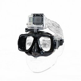 Wholesale Underwater Diving Mask for Gopro hero Camera Accessories Tempered Glass Lens Adult Diving Snorkeling Equipment