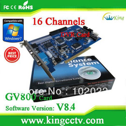 Wholesale Hot selling video card GV800 V8 Hardware V3 CH Support Win7 bits iphone GV DVR Card