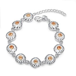 Hot 925 sterling silver plated charm bracelet with zircon for women sweet romantic Valentine's Day gift top quality free shipping
