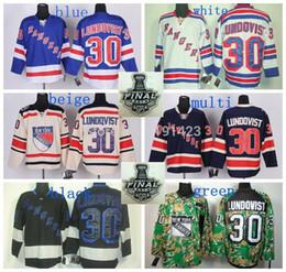 Sale Cheap#30 Henrik Lundqvist New York Rangers Hockey Jersey Home Blue Road White Alternate 85th Navy Blue Winter Cream Jerseys