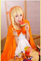 Wholesale Sankaku Head Himouto Umaru chan Umaru Doma Cosplay Costumes MARMOT Air Conditioning Blanket Orange cute Cloak Cape Anime cartoon