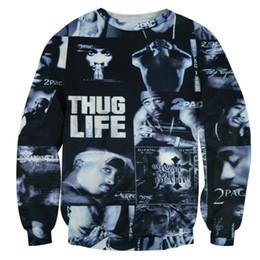 w1208 Alisister ROCK hoodie THUG LIFE clothing print Women Men Tupac 2PAC sweatshirt crewneck 3d graphic harajuku moleton feminino top