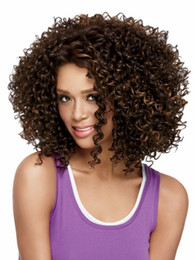 2016 New High Quality Women Synthetic Wigs Natural Afro Kinky Short Curly Wig for Black Women