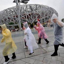 Wholesale Fashion Hot Disposable PE Raincoats Poncho Rainwear Travel Rain Coat Rain Wear gifts mixed colors