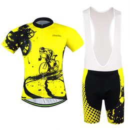 2016 New Aogda jersey   strap short sleeve jersey   bike clothes perspiration breathable cycling clothes for men and women