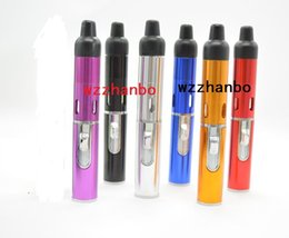 Wholesale Hot smoking metal pipes Click N Vape vapor sneak a toke eshisha tank vapor Vaporizer for dry herb tobacco Wind Proof Torch Lighter e cigars
