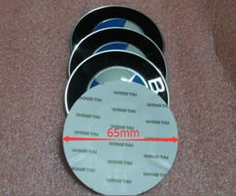 Wholesale set mm Blue white Badge Wheel Center Hub Cap Decals Sticker Fit B M car emblems exterior accessories D sticker