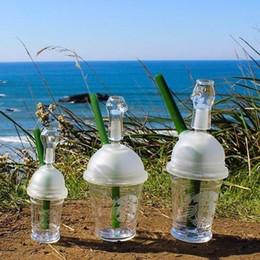 Ongles en verre pour l'huile en Ligne-Livraison gratuite Sandblasted Starbuck tasse d'eau pipe dab concentrer plate-forme pétrolière bongs en verre dôme en verre et des tuyaux de fumée de verre de clou Hookah