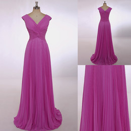 Sleeveless 2015 V Neckline Formal Evening Dresses Elegance A Line Cap Sleeve Floor Length With Fine Chiffon Evening Gowns