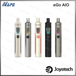 Wholesale Joyetech eGo AIO Kit Original mL With mAh Battery Anti leaking First Childproof Tank Lock System All in one Style Vaping Device