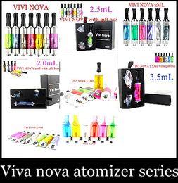 2015 newest VIVI NOVA 2ml 2.5ml 3.5ml 8ml atomizers VIVI TANK atomizers vaporizers cartomizers with retail box or two coil and giftBox ATH02