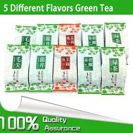 Wholesale 5 Different Flavors Organic Green Tea including dragon well Long Jing BiLuoChun Mao jian Mao feng Jasmine Tea weight loss tea