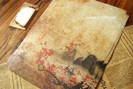 Wholesale 120pcs papier d écriture romantique vent chinois série papeterie encre Antique couleur à en tête livraison gratuite