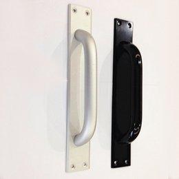 Wholesale Fire door handle sliding door handle sliding door channel pull hands with aluminum plate surface mounted handle