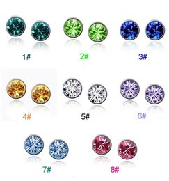 Wholesale high grade earrings Austrian Crystal inlaid dazzling stud earrings anti allergic jewelry LDE