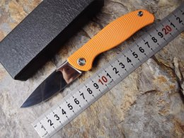 Wholesale Shirogorov F3 Bearing system Floding knife D2 Mirror light treatment blade orange G10 handle outdoor survival knife hunting camping tool OEM